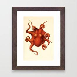 "Art by Friedrich Wilhelm Winter from ""Cephalopod Atlas"" by Carl Chun, 1910 (benefitting Greenpeace) Framed Art Print"