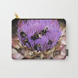 Bee Party on Artichoke Carry-All Pouch