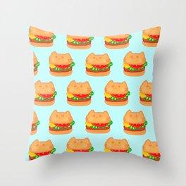 Cat Food - Hamburger Throw Pillow