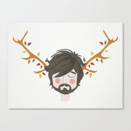 The Man With The Antlers Canvas Print