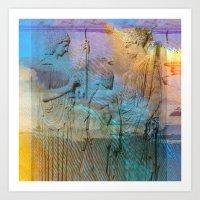 mythology Art Prints featuring Mythology by aeolia