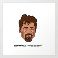 brad pitt Art Prints featuring Brad Pitt by Λdd1x7