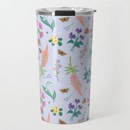 Violets Honeysuckle & Lavender Pattern Travel Mug