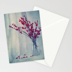 red pearls Stationery Cards