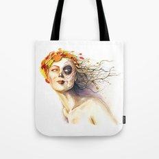 Lady Autumn Tote Bag