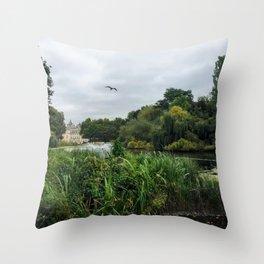 Royal British Garden Park Throw Pillow