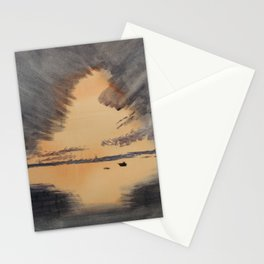 Red light Contrast Stationery Cards
