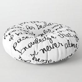 Audrey Hepburn Quote Floor Pillow