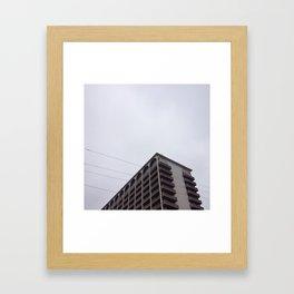 gray day Framed Art Print