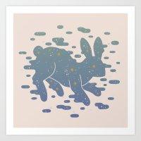 Lepus Constellation: Pastel Art Print