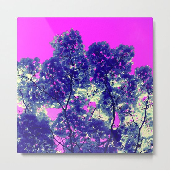 blue tree VII Metal Print