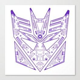 Decepticon Tech Purple Canvas Print