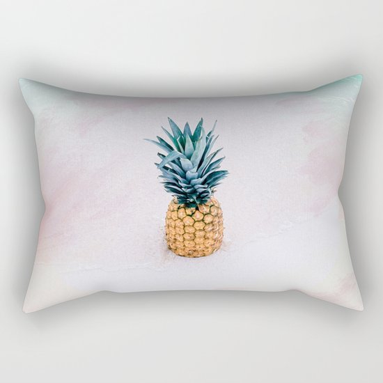 Pineapple on the beach Rectangular Pillow