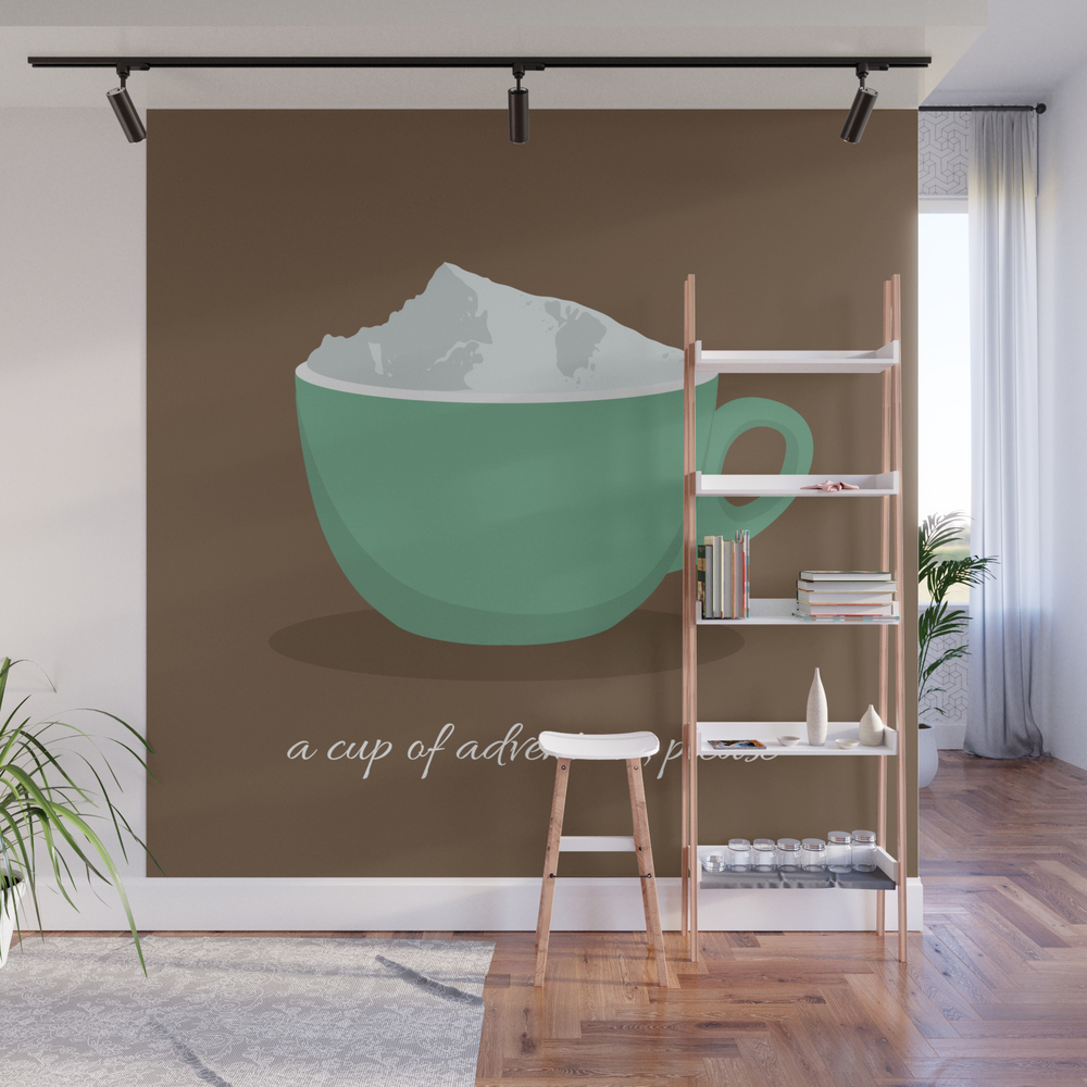 A Cup Of Adventure, Please Wall Mural by Ika_valentova WMP7692407