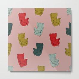Seventies Armchair Pattern - Version 1 #society6 #seventies Metal Print