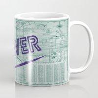 denver Mugs featuring Denver by Dweezle