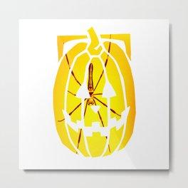 Spider in a Pimpkin Metal Print