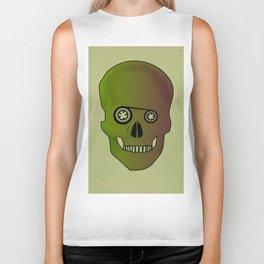 skull casette print Biker Tank