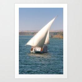 Nile Cruising Art Print