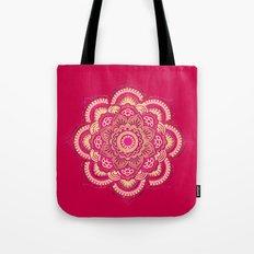 Namaste in Red Tote Bag