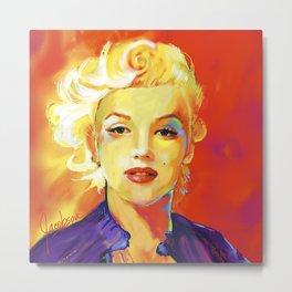 Marilyn I Red Metal Print