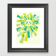 Modern Sunburst Framed Art Print