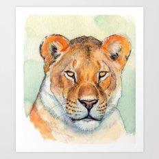 Lioness 845 Art Print