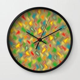 Warm Brush Strokes Wall Clock
