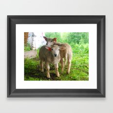 Two small helpers Framed Art Print