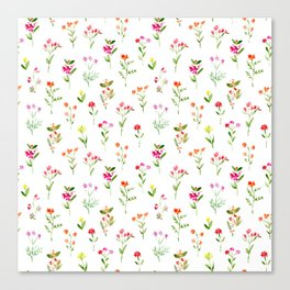 Sweet meadow || watercolor floral pattern Canvas Print