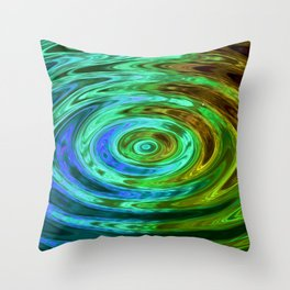 Holland Chakra AquaGreen Throw Pillow