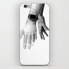 Fading Hands (Black and White) iPhone Skin
