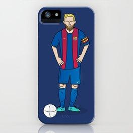 Lionel Messi - Blue iPhone Case