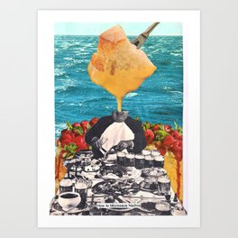 HOW TO MICROWAVE NACHOS Art Print