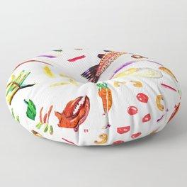 Food Lover Floor Pillow