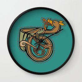 Celtic Hound Letter T 2018 Wall Clock