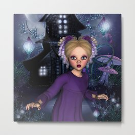 Little Daphine Fantasy Fairy World Metal Print