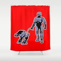 robocop Shower Curtains featuring Robocop by dutyfreak