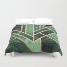 Art Deco Emerald Duvet Cover