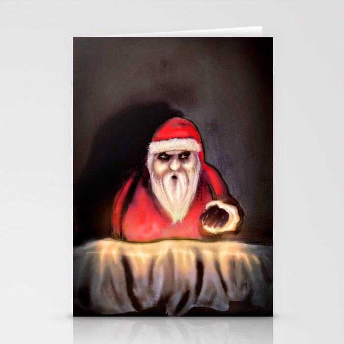 Black Xmas: Santa Claus is Here Stationery Cards