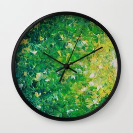 LAKE GRASS - Original Acrylic Abstract Painting Lake Seaweed Hunter Forest Kelly Green Water Lovely Wall Clock