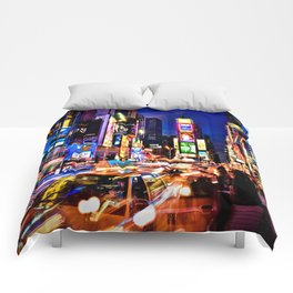 Times scuare Comforters