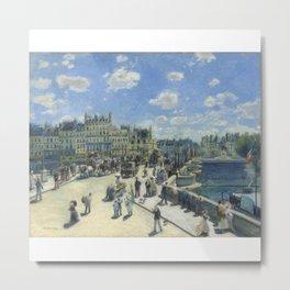 Auguste Renoir Pont Neuf Paris 1872 Metal Print