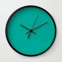 persian Wall Clocks featuring Persian green by List of colors