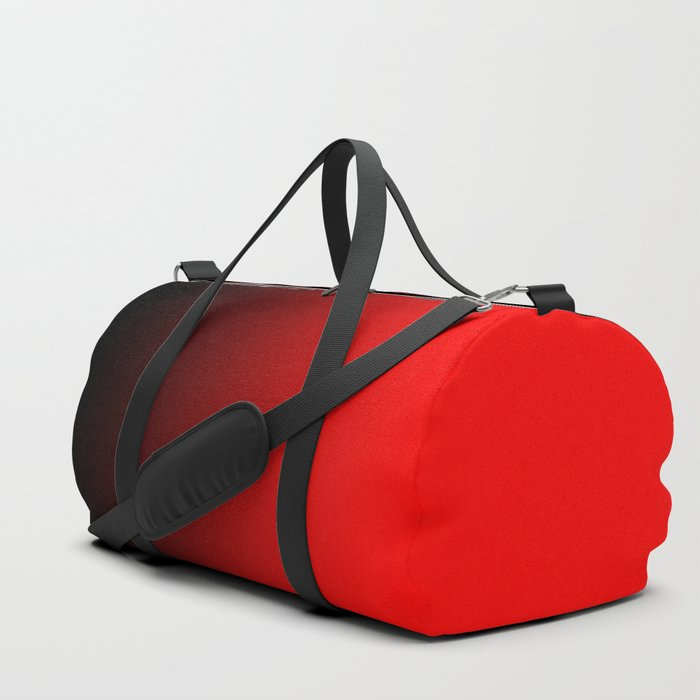 Black Red Neon Nights Ombre Duffle Bag