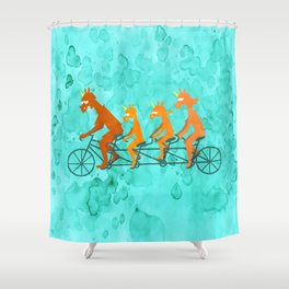 Father's Day Ride Shower Curtain