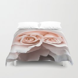 Rose with two centres | Blush Pink Bedroom Art Duvet Cover