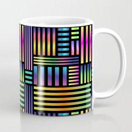 90's Neon Ombre Stripes Coffee Mug