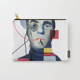 Famous people in a bauhaus style - Jerony Irons Carry-All Pouch