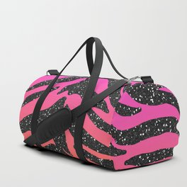 Tropical Sunset Glitter Tiger Stripes Duffle Bag